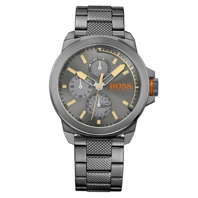 Mens Grey Dial New York Bracelet Strap Watch
