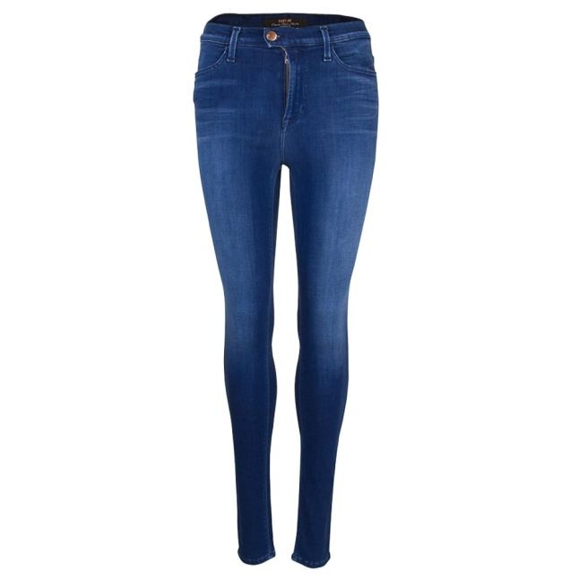 Womens Blue Wash Super High Rise Touch Skinny Fit Jeans
