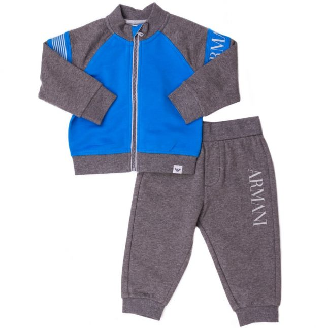Baby Blue Zip Through Branded Tracksuit