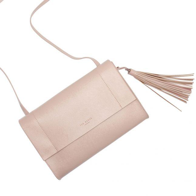Womens Nude Pink Lailai Tassel Patent Crossbody Bag