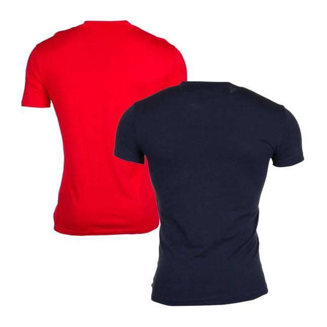 Mens Marine & Red 2 Pack Reg Fit Tee Shirts