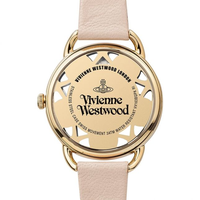 Womens Pink Leadenhall Leather Strap Watch