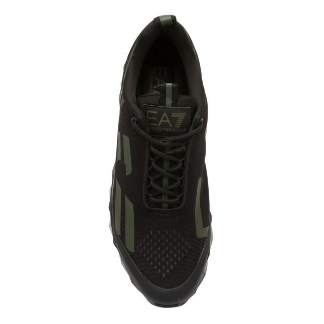 Mens Black/Green Hex Sole Trainers
