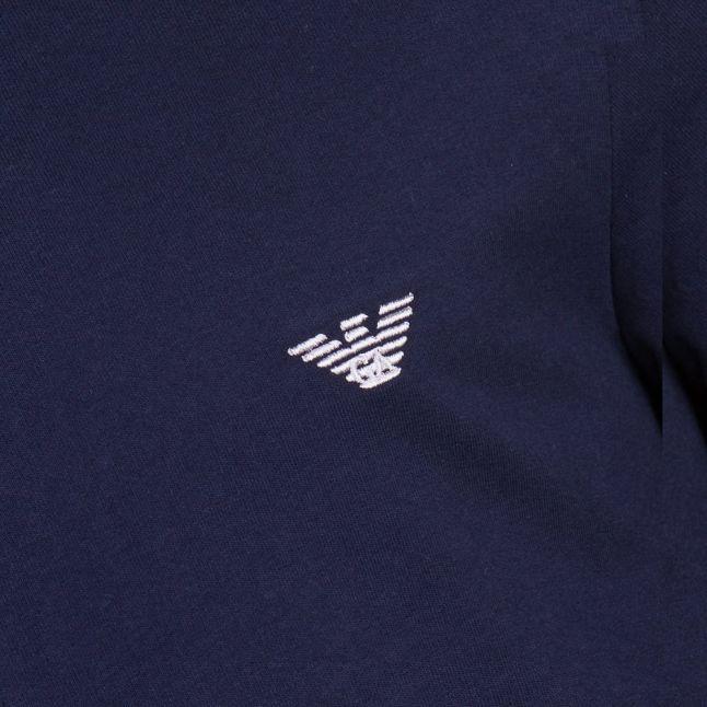 Mens Navy Basic Zip Sweat Top