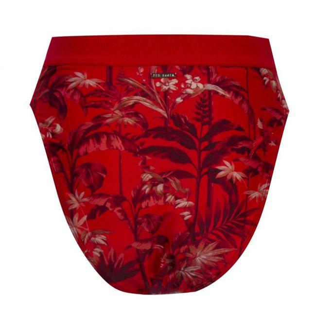 Womens Dark Red Frayiia Printed Bikini Pants