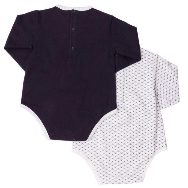 Baby Navy 2 Pack L/s Bodysuits