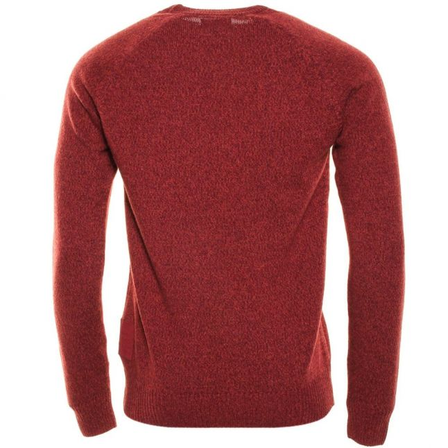 Mens Ruby Staple Lambswool Crew Knitted Jumper