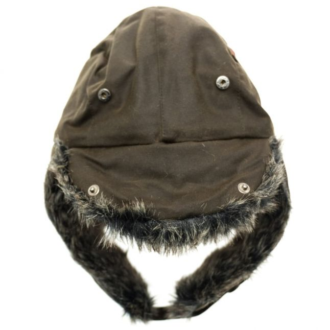 Lifestyle Mens Olive Waxed Grasmere Trapper Hat