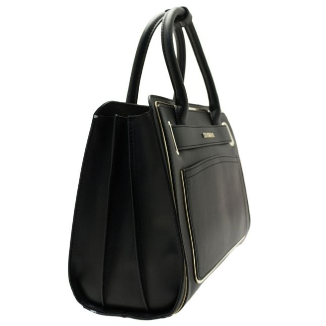 Womens Black Belt Tote Bag