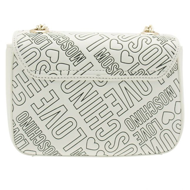 Womens Cream Embossed Small Bag