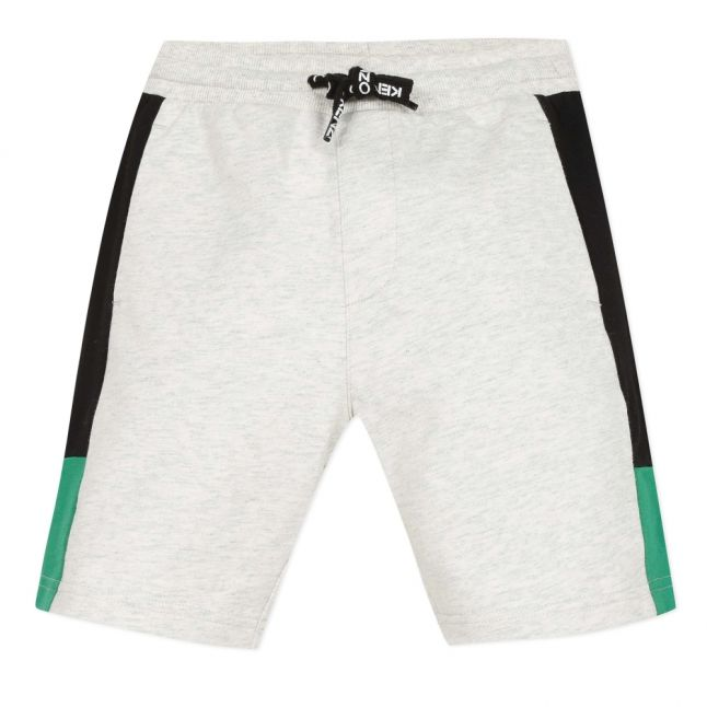 Boys Light Marl Grey Jaja Elephant Sweat Shorts