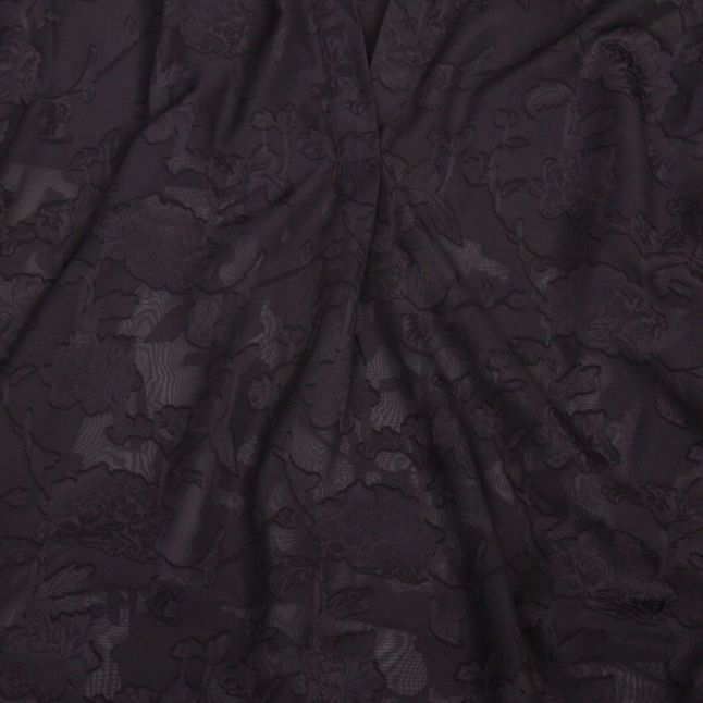 Womens Black Clarita Fil Coupe Blouse