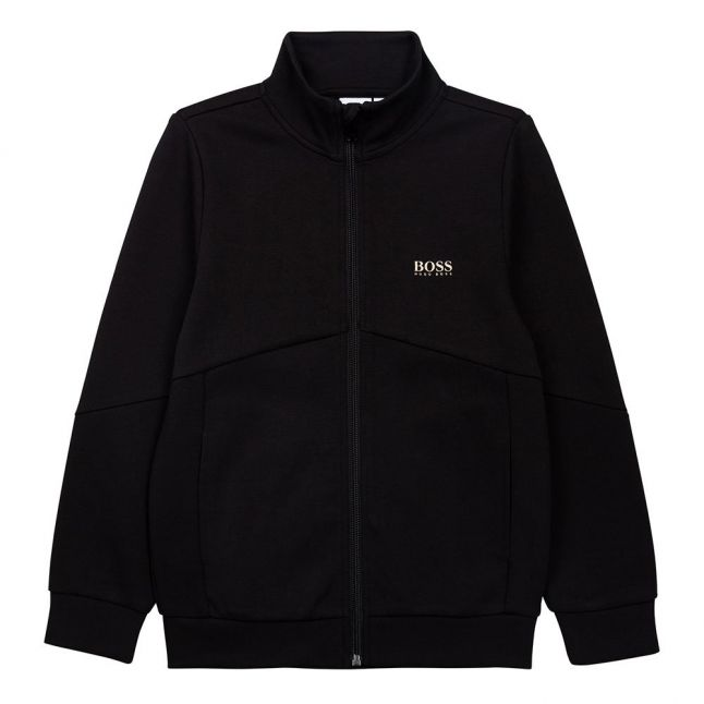 Boys Black Gold Pixel Zip Through Sweat Jacket