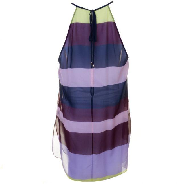Womens Navy Modala Modern Stripe Cover Up