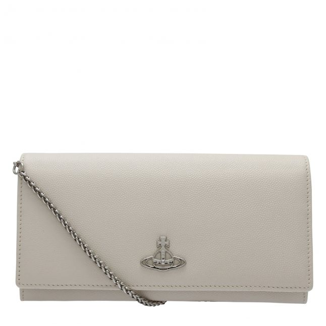 Womens Beige Windsor Leather Purse With Chain