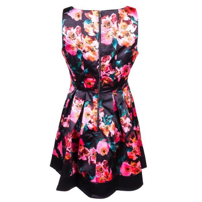 Womens Black Multi Allegro Poppy Satin Dress