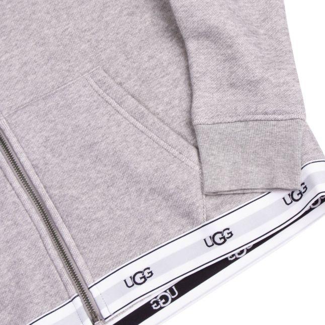 Womens Grey Heather Sena Hooded Zip Through Lounge Top