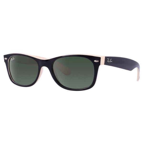 Top Black On Beige RB2132 New Wayfarer Sunglasses