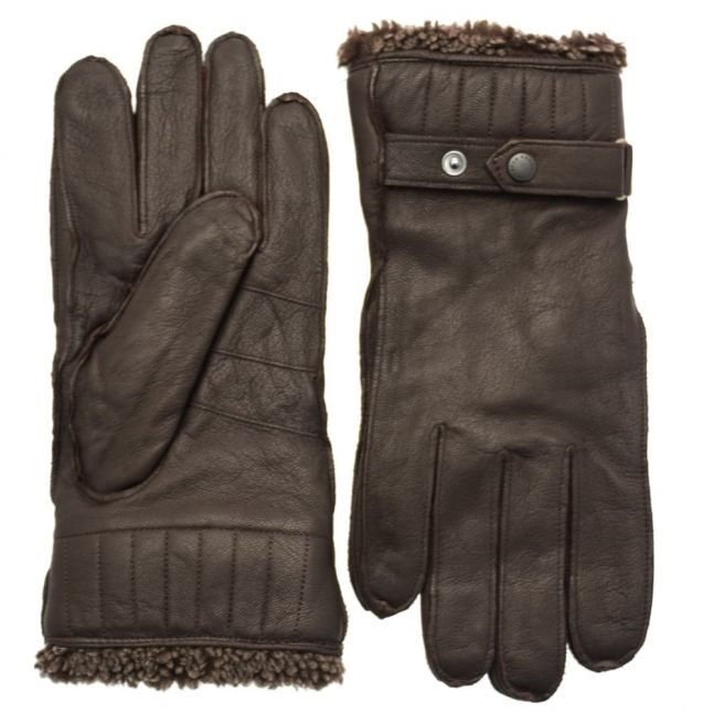 Mens Brown Tindale Leather Gloves