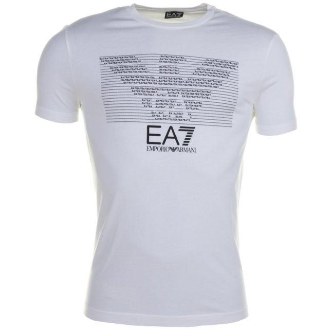 Mens White Training Logo Series Eagle S/s Tee Shirt