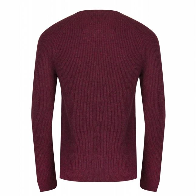 Mens Red Marl Garway Crew Knitted Jumper