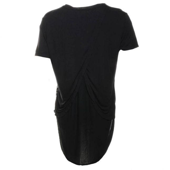 Womens Jet Black Aperture Top
