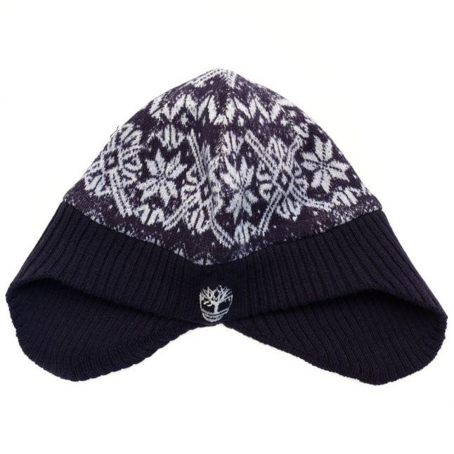Baby Navy Fair Isle Trim Hat