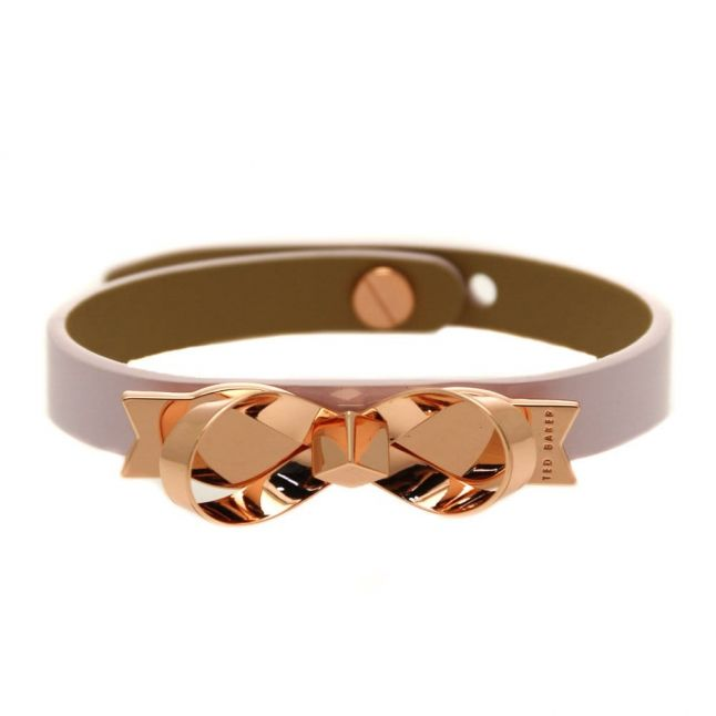 Womens Pale Pink Brey Loop Bow Bracelet