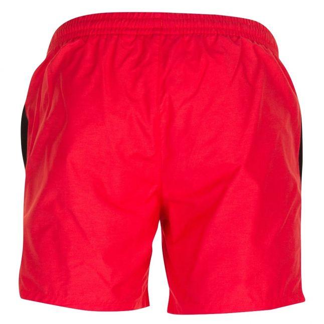 Mens Red Branded Swim Shorts