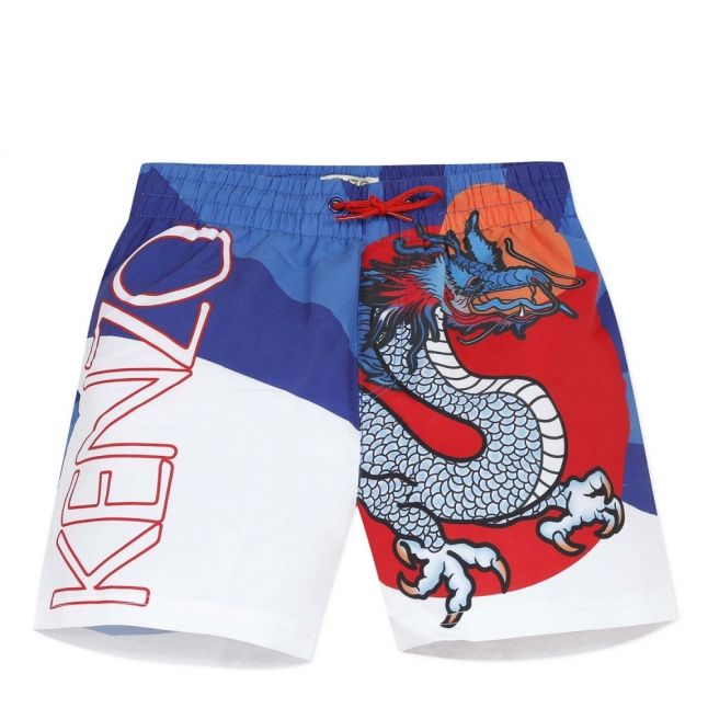 Boys King Blue Jeanjass Dragon Swim Shorts