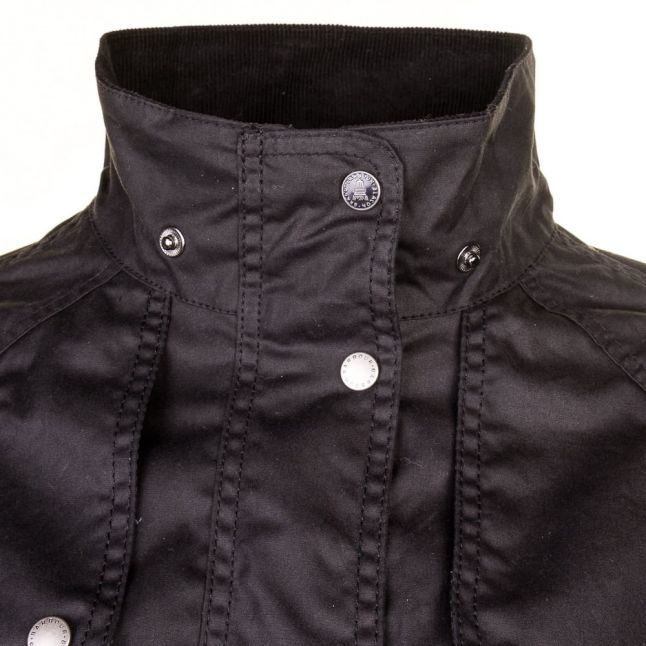 Lifestyle Womens Navy Barnacle Waxed Jacket