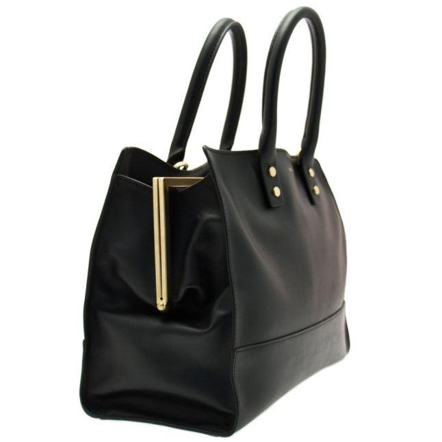 Womens Black Daphne Leather Medium Bag