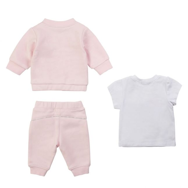 Baby Pink 3 Piece Tracksuit Set