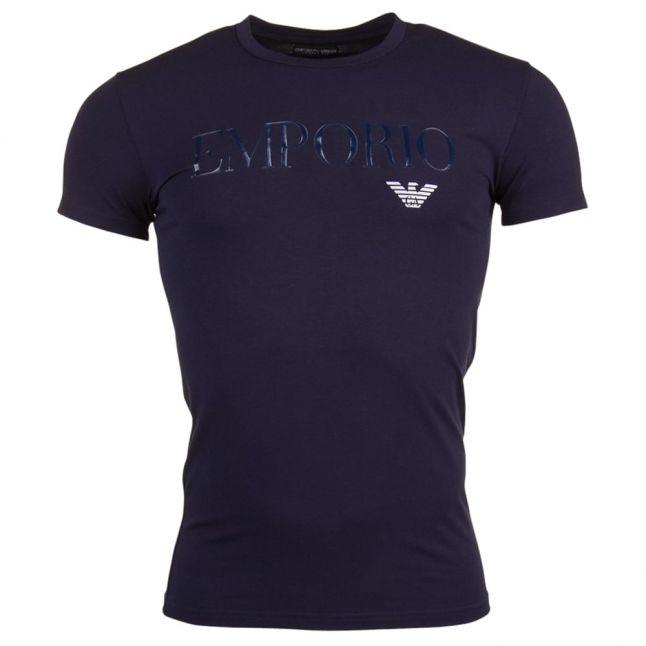 Mens Marine Mega Logo Tee Shirt