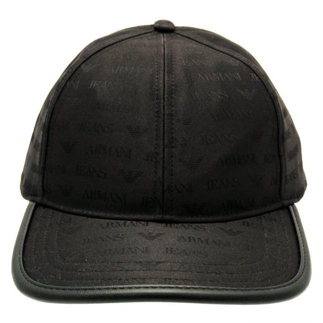 Mens Black Logo Cap