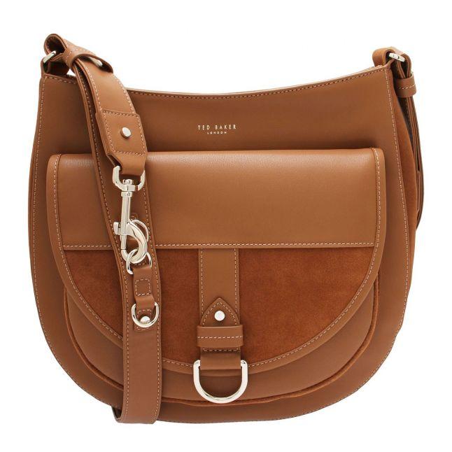 Womens Brown Equa Equestrian Hobo Bag