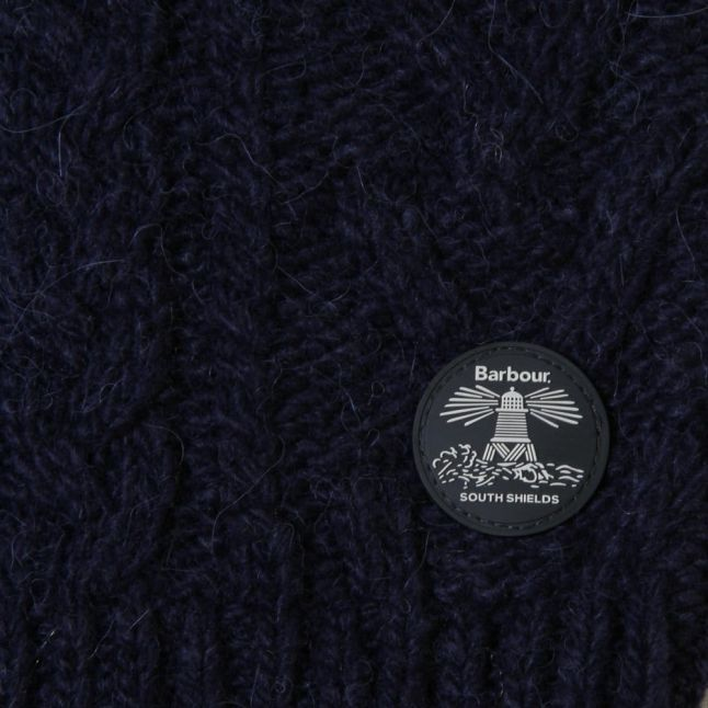Girls Naval Blue Laney Cable Crew Knitted Jumper