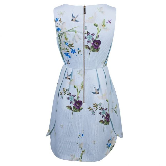 Womens Baby Blue Loolina Spring Meadow Skater Dress