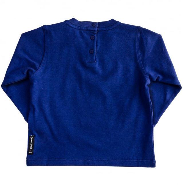 Baby Blue Wave Print Logo L/s Tee Shirt