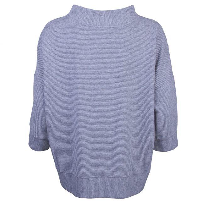 Womens Grey Sudan Marl 3/4 Sleeve Knitted Jumper