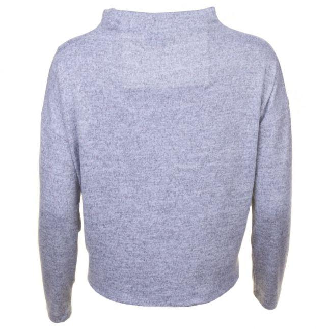 Womens Light Grey Melanfe Vilune Knitted Top
