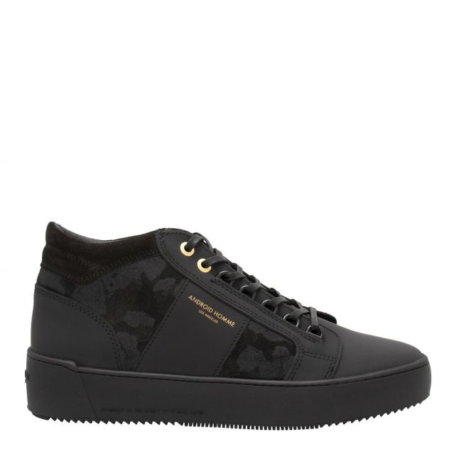 Mens Black Gomma Leather Propulsion Mid Geo Trainers