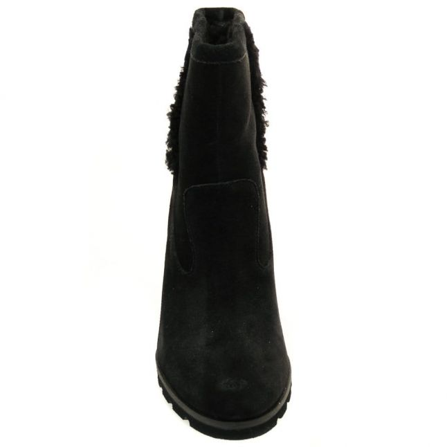 Womens Black Jade Wedge Boots