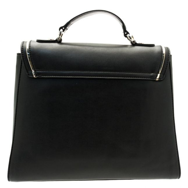 Womens Black Belt Top Handle Bag