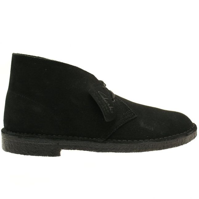 Mens Black Suede Desert Boot
