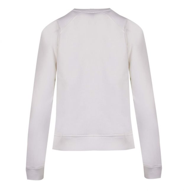 Casual Womens White Teleanor Emb. Sweat Top