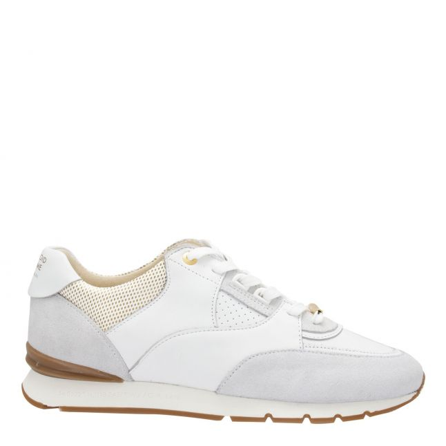 Android Homme Mens Ghost White Belter Gold Laser Trainers