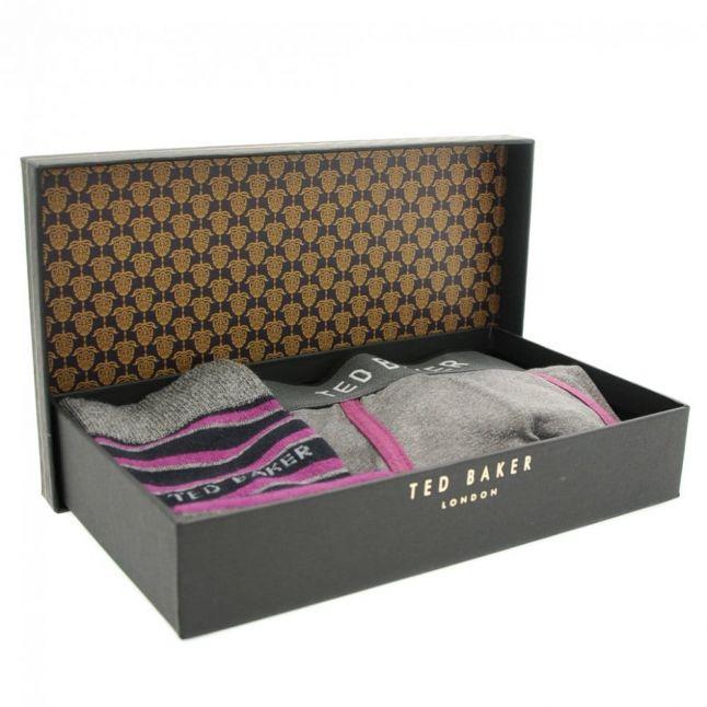 Mens Grey Marl Boonah Socks & Boxer Gift Set