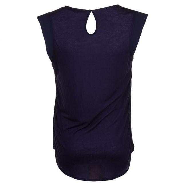 Womens Utility Blue Classic Polly Plains Cap Tee Shirt
