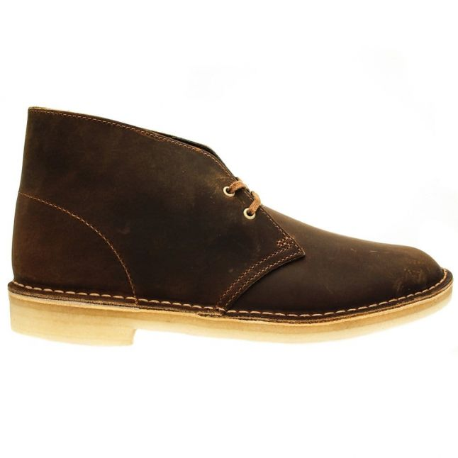 Mens Beeswax Leather Desert Boot